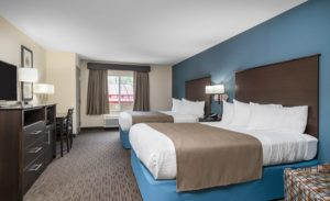americinn, winona, minnesota, two, queen, room, book, hotel, stay, bed