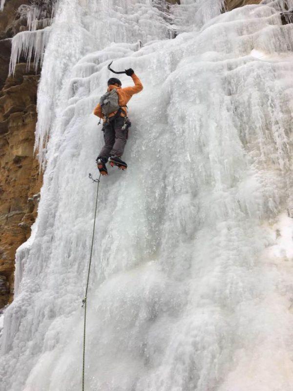 ice, climbing, wall, winona, minnesota, bluff, equipment, winter, sport