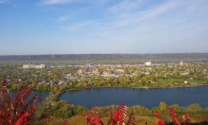 winona, minnesota, garvin, heights, lookout, overlook, scenic, view, lake, city, highway, aerial