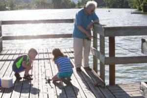 kids, fishing, outdoor, recreation, lake