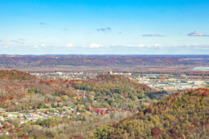 bluffs, winona, overview, aerial