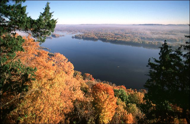 Great River Bluffs State Park Fall Colors Drive the Great River Road Month Minnesota Mississippi River Parkway Commission Winona MN Southeastern Minnesota Roadtrips