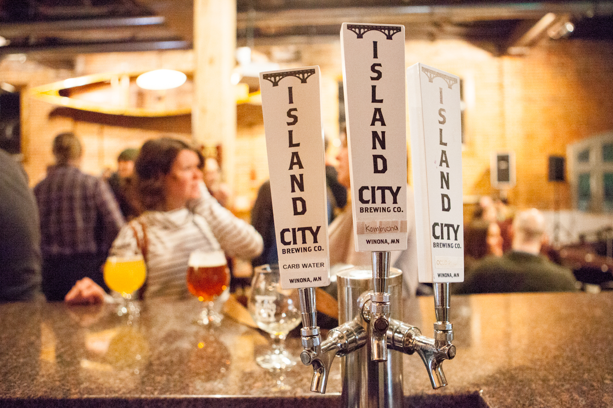 Beer taps at Island City Brewing Company pour unique microbrews
