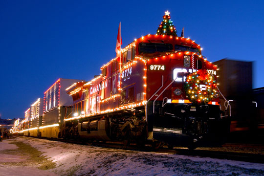 Canadian Pacific Holiday Train Amtrak Depot Winona MN Southeastern MN