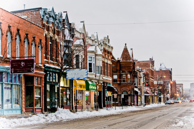 winona downtown business businesses local shopping shops winter